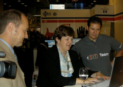 Isabelle Chassot President of EDK tests Microsoft Office
